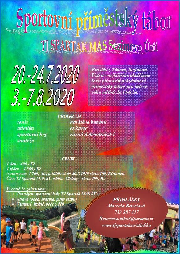 Sportovní příměstský tábor 2020 - plakát